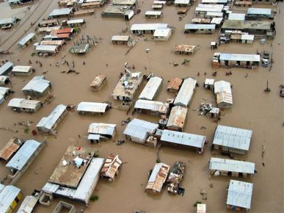 There are currently no floods in Haiti such as the 2004 Gonaives flood.