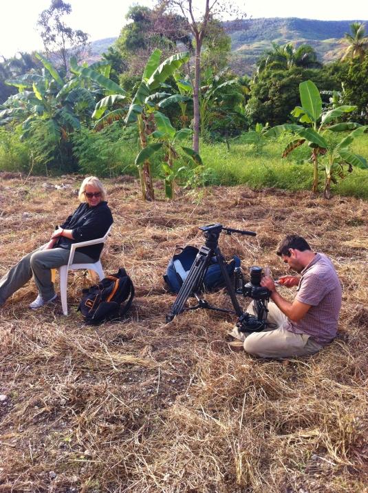 Cheryl & Greg setting up a beautiful shot.